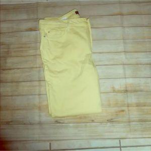 Nydj sz 18 Clarissa skinny ankle yellow jeans